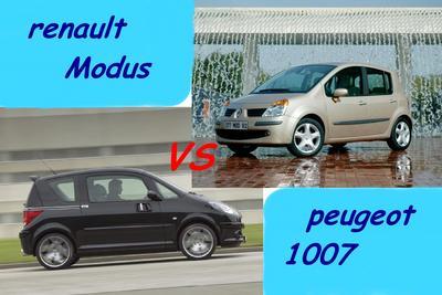 Match 1007 vs modus nouveaut s actu face face c 39 est - Peugeot 1007 probleme porte coulissante ...