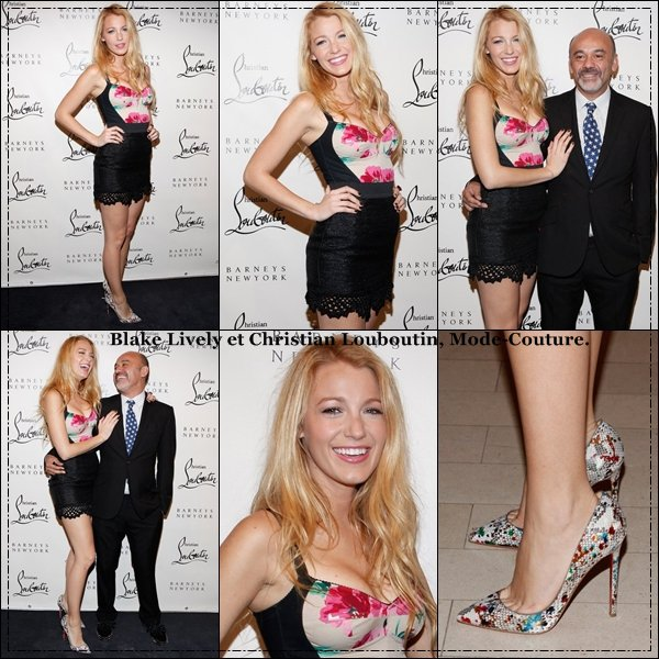 Blake Lively & Christian Louboutin à New York.