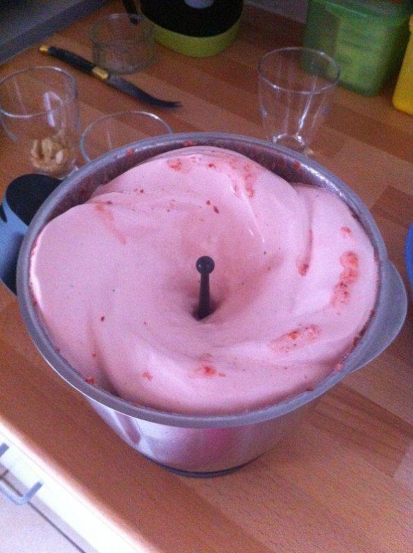 Notre dessert mousse de fraise