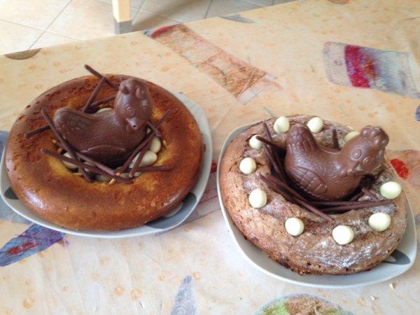 Et voilà les deux nids de Pâques