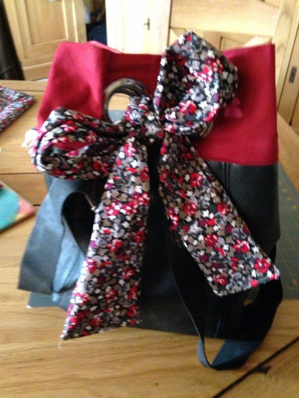 Une idée farfelue un reste de tissus resultat un joli sac