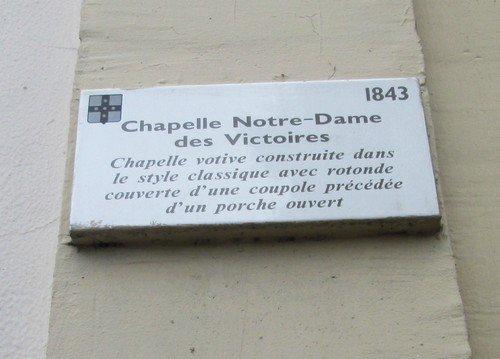 Chapelle Notre-Dame des Victoires.