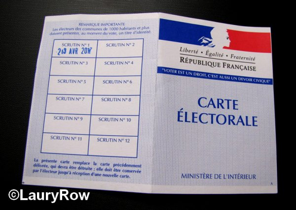 A VOTE. le 23/04/17*