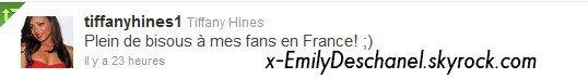 Tiffany Hines & David Boreanaz ~ Twitter ♥