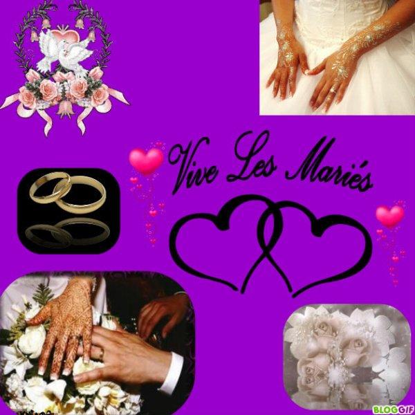 félicitation pour lui & elle c leur mariage aujourd,huit (l)