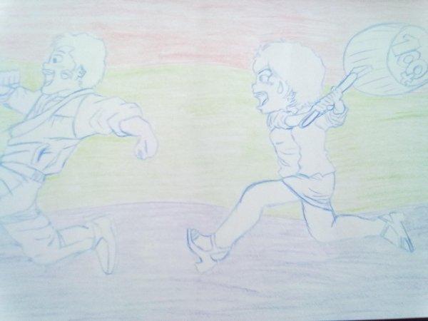 dessin de nicky larson fait en 2009 par nicolas delarue