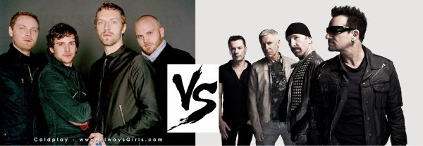 4ème battle ---> Coldplay V.S U2