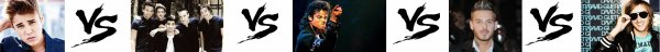 101 ème Battle (SPECIALE GARCON) --> Justin Bieber  V.S  One Direction V.S  Mickaël Jackson  V.S  M.Pokora  V.S  David Guetta