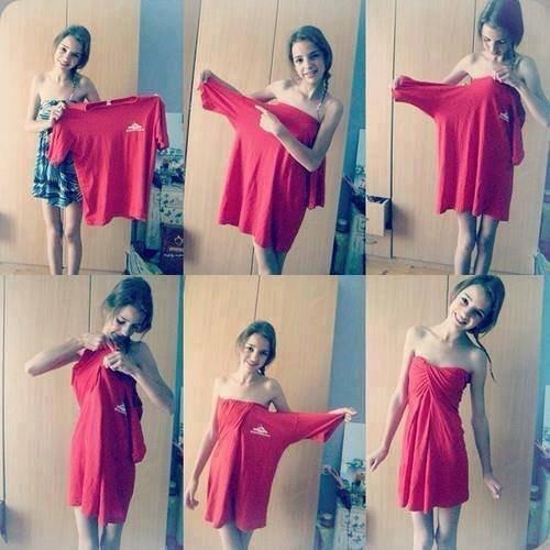 T-shirt robe :o