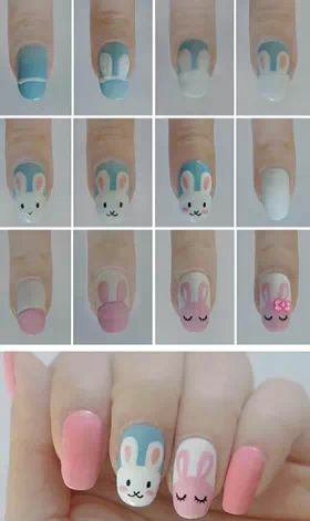 Nail art pâque