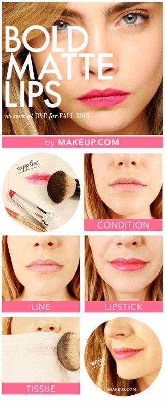 Tutoriel : lèvres Cara delevingne