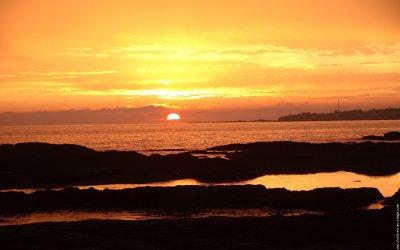 un coucher de soleil exceptionnelle