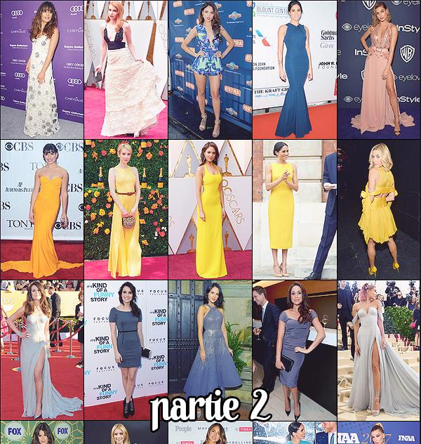 •••  COLLABORATION :   Partie II - Cinq people, une couleur, de superbes tenues ...  Faites votre choix !           Des tenues favorites ? Un coup de coeur tenue ? un coup de coeur people ? J'adore les tenues jaunes et blanches !