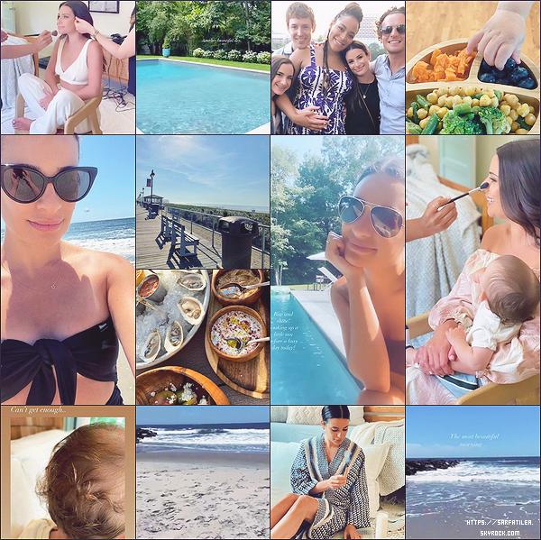 •••  INSTA :   Voici quelques photos personnelles postées par la miss ces derniers jours, votre avis ?            Difficile pour moi de faire un choix je les adore toutes ! J'aime celles avec la mer et celles ou Lea porte des lunettes de soleil.
