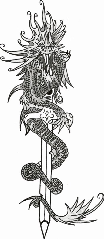 dessin dragon épée - blog de skull