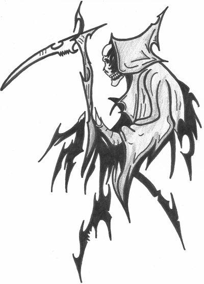 dessin faucheuse tribal - blog de skull