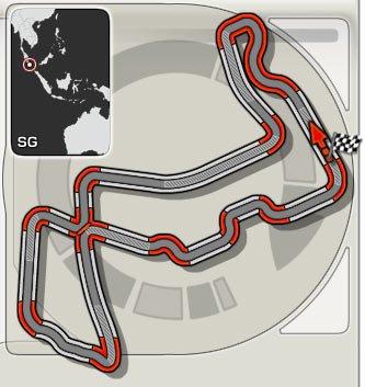 GP de Singapour: Présentation du tracé