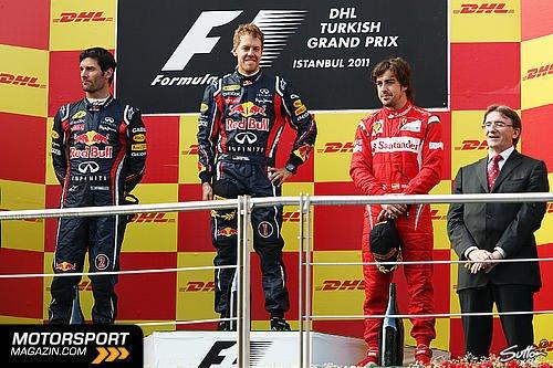 GP de Turquie: Course: Vettel reçu 3 sur 4