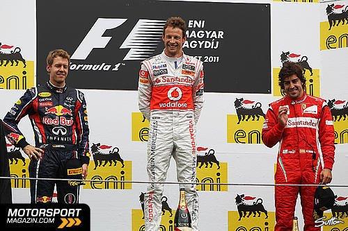 GP de Hongrie: Course: 200eme GP heureux pour Button