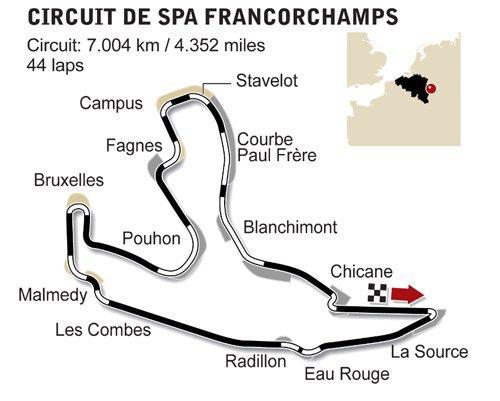 GP de Belgique: présentation du tracé