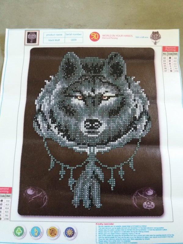Diamond painting Loup