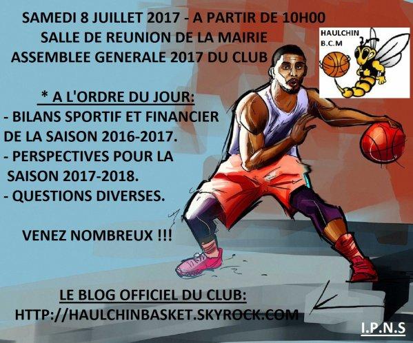 COMPTE-RENDU ASSEMBLÉE GÉNÉRALE DU CLUB  2017.