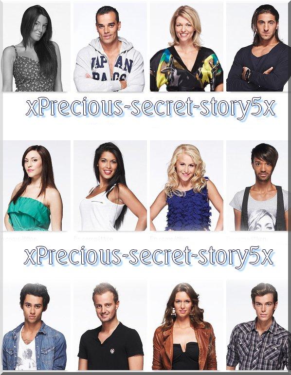 présentation des candidats de secret story 5