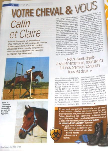 """Article """"Cheval Pratique"""""""