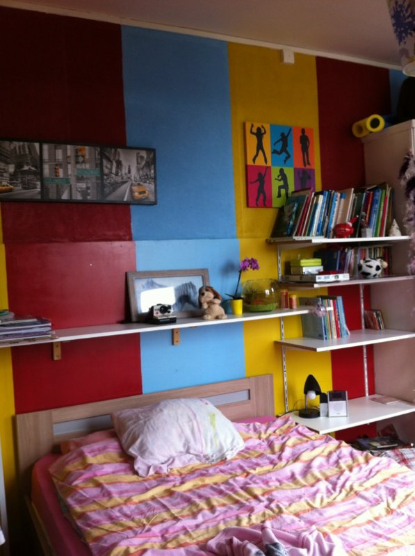 Nouvelle chambre pour les filles.