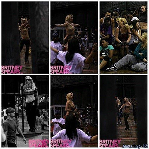 """Photos des répétitions pour le """"The Circus Starring: Britney Spears Tour"""", 2009"""