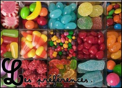 Les préférences.♥