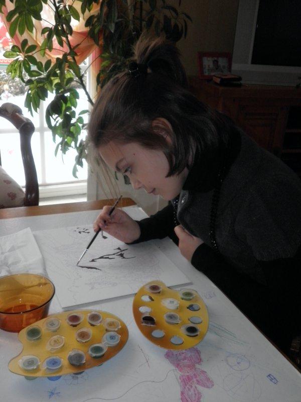 Moi et la peinture..ça fait deux!x)