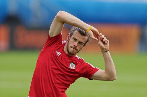 Photos de Gareth Bale à l'entraînement au Stade de Bordeaux (10.06.16)
