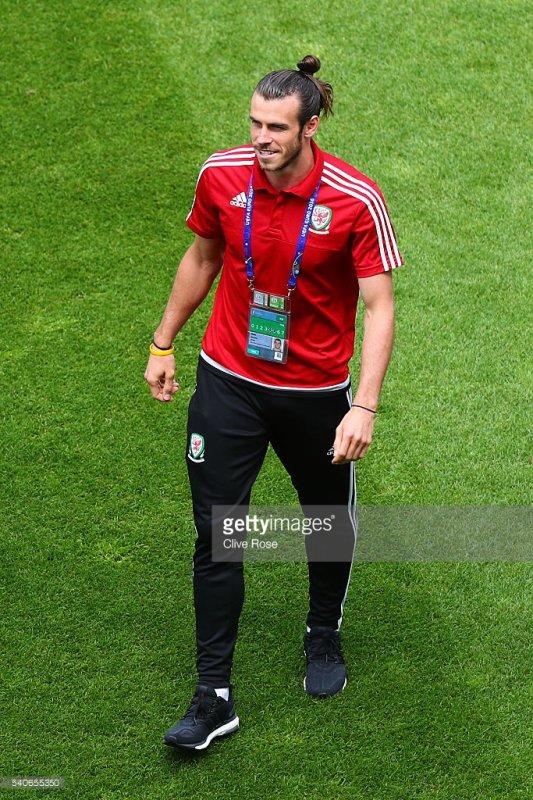 Gareth Bale avant le match Angleterre - Pays de Galles (16.06.16)