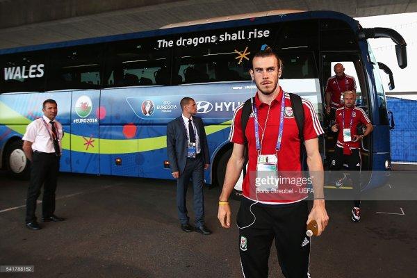 Gareth Bale avant le match Russie - Pays de Galles (20.06.16)