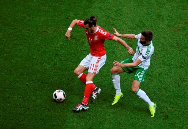 Photos de Gareth Bale pendant le match Pays de Galles - Irlande du Nord (25.06.16)