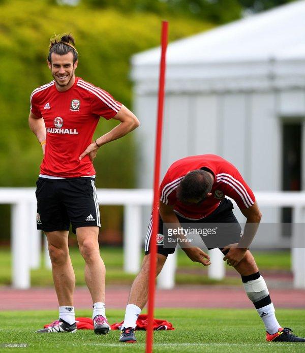 Photos de Gareth Bale à l'entraînement à Dinard (28.06.16)