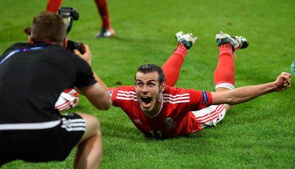 Photos de Gareth Bale pendant le match Pays de Galles - Belgique (01.07.16)