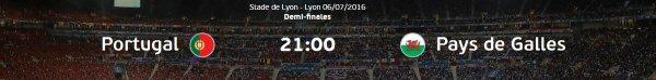 Euro 2016 : PORTUGAL - PAYS DE GALLES (06.07.16)