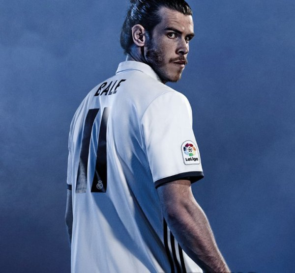 nouveaux maillot du real madrid 2016 2017 gareth bale 11. Black Bedroom Furniture Sets. Home Design Ideas