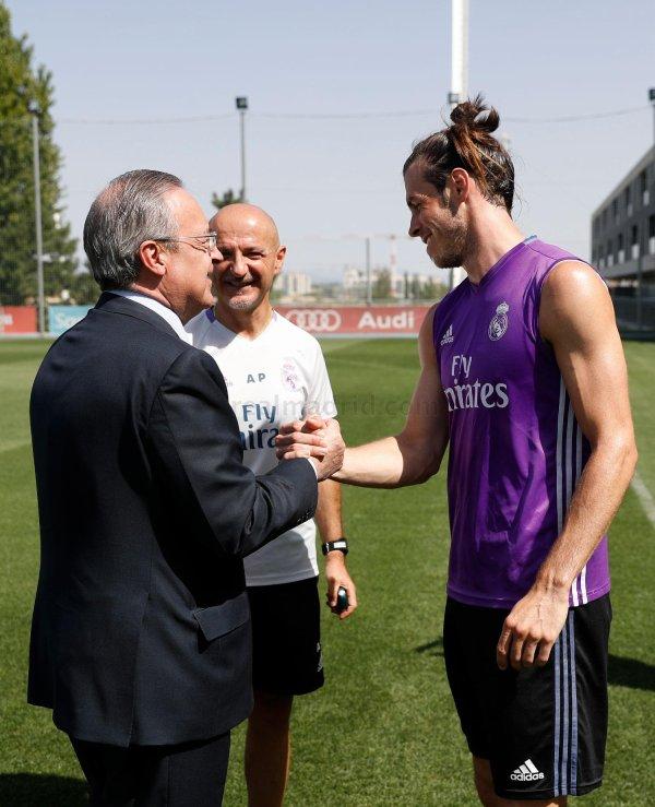Photos de Gareth Bale à l'entraînement avec le Real Madrid (15.08.16)