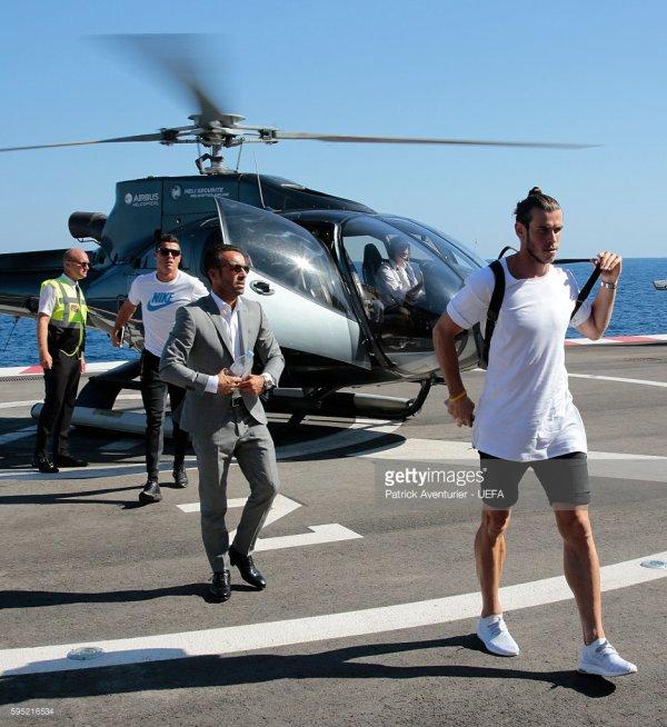 Arrivée de Gareth Bale à Monaco (25.08.16)