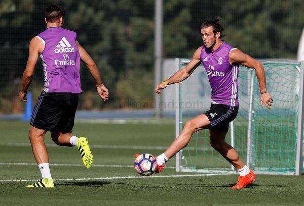 Gareth Bale à l'entraînement (07.09.16)