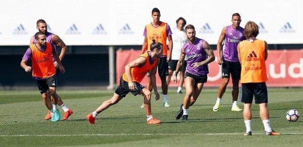 Photos de Gareth Bale à l'entraînement avec le Real Madrid (08.09.16)