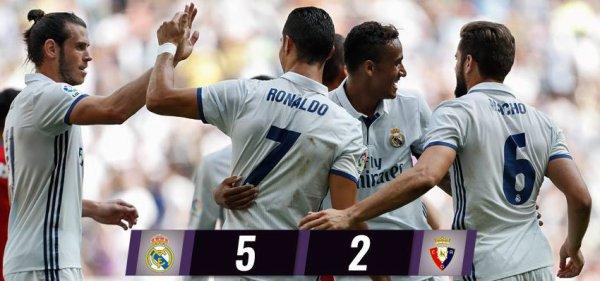 LIGA : 3ème journée : Real Madrid - Osasuna (10.09.16)