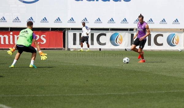 Photo de Gareth Bale à l'entraînement avec le Real Madrid (12.09.16)