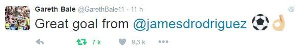 Twitter de Gareth Bale (18.09.16)