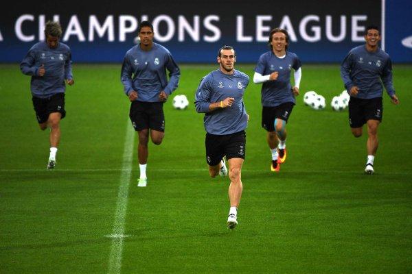 Photo de Gareth Bale à l'entraînement avec le Real Madrid au stade Signal Iduna Park (26.09.16)