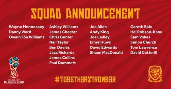 Gareth Bale est selectionné avec le Pays de Galles pour affronter l'Autriche et la Hongrie (29.09.16)