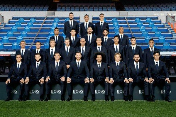 L'équipe du Real Madrid habillé par Hugo Boss
